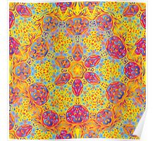 Psychedelic jungle kaleidoscope ornament 16 Poster