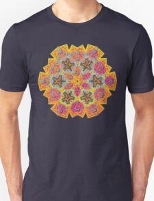 Psychedelic jungle kaleidoscope ornament 16 T-Shirt