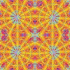 Psychedelic jungle kaleidoscope ornament 17 by Andrei Verner