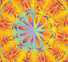 Psychedelic jungle kaleidoscope ornament 17 Sticker