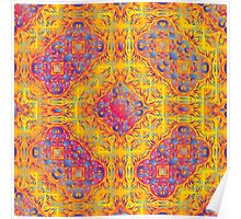 Psychedelic jungle kaleidoscope ornament 18 Poster