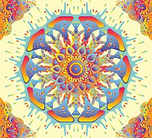 Psychedelic jungle kaleidoscope ornament 19 by Andrei Verner