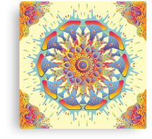 Psychedelic jungle kaleidoscope ornament 19 Canvas Print