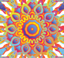 Psychedelic jungle kaleidoscope ornament 19 Sticker