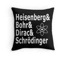 Funny Physics and Engineering Design with Quantum Physicists Throw Pillow