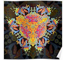 Psychedelic jungle kaleidoscope ornament 20 Poster