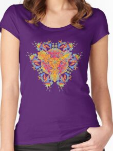 Psychedelic jungle kaleidoscope ornament 20 Women's Fitted Scoop T-Shirt