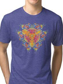 Psychedelic jungle kaleidoscope ornament 20 Tri-blend T-Shirt