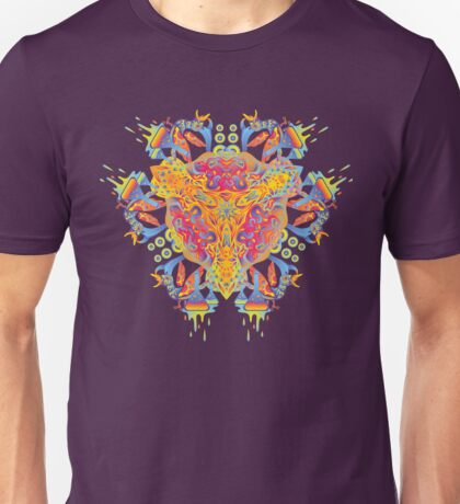 Psychedelic jungle kaleidoscope ornament 20 Unisex T-Shirt