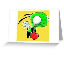 Gir Love Angel Greeting Card