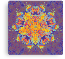 Psychedelic jungle kaleidoscope ornament 21 Canvas Print