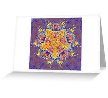 Psychedelic jungle kaleidoscope ornament 21 Greeting Card