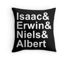 Funny Physics and Engineering Design with Famous Physcists Throw Pillow