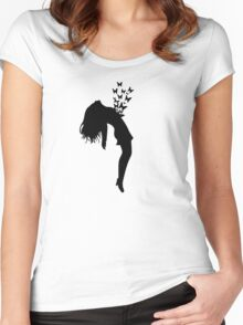 Butterflies in your chest Women's Fitted Scoop T-Shirt