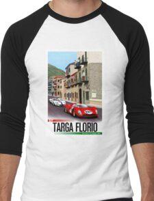 TARGA FLORIO; Vintage Grand Prix Auto Print Men's Baseball ¾ T-Shirt