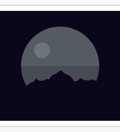 Death Star Mountains Sticker