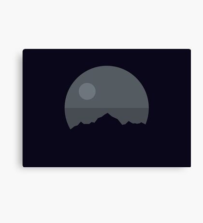 Death Star Mountains Canvas Print