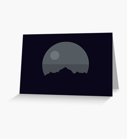 Death Star Mountains Greeting Card