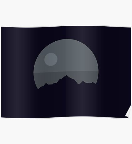 Death Star Mountains Poster