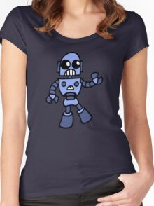 arcade robot gaming gamer funny geek  Women's Fitted Scoop T-Shirt