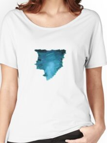 Water Strokes | Blue | Women's Relaxed Fit T-Shirt