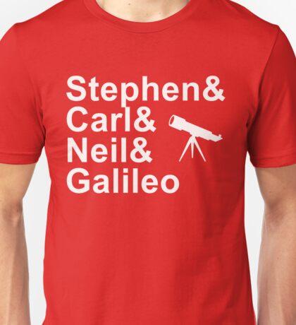 Famous Astrophysicists Hawking Sagan Tyson Galileo Unisex T-Shirt