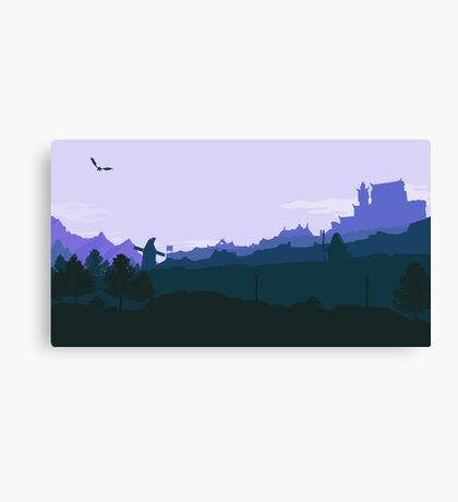 Whiterun Skyrim - Blue Canvas Print