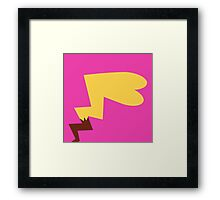 Female Pikachu Tail Framed Print
