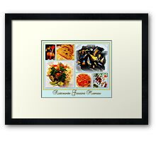Dinner at Grissini Framed Print