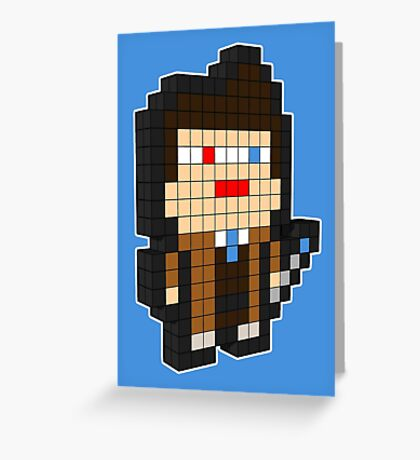3D PIXEL - DOCTOR WHO (DAVID TENNENT) Greeting Card