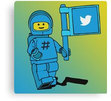 Twitter Benny - Social Media Inspired Lego Canvas Print