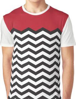 Twin Peaks Black Lodge Floor Black White Red Graphic T-Shirt