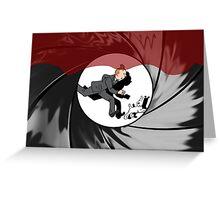 Tin Tin vs James Bond Greeting Card