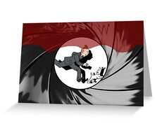 Tin Tin vs James Bond Greeting Card
