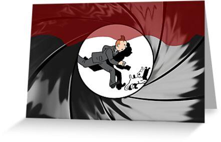 Tin Tin vs James Bond by LucyOlver