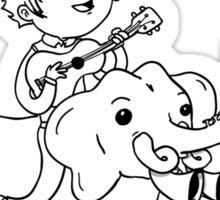 Elephant Gun Sticker