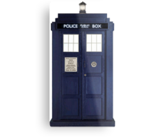 Tardis - Doctor Who Metal Print