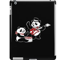 White Stripe Pandas iPad Case/Skin