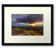 Yorkshire Sunset  Framed Print