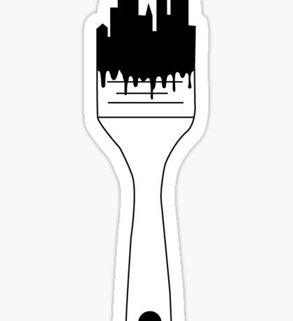 City Paint Brush Sticker