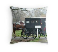 Amish Carriage Throw Pillow