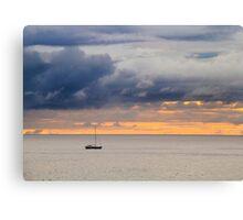 Dawn golden sky  Canvas Print