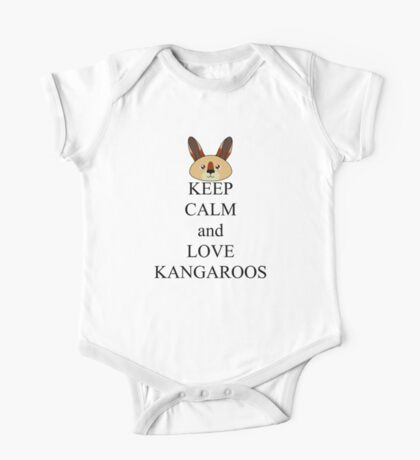 Keep calm and love kangaroos One Piece - Short Sleeve