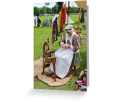 Re Enactment in Rhuthin North Wales UK Greeting Card