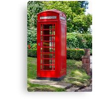 Call Home : - Red Telephone Box Canvas Print