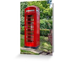 Call Home : - Red Telephone Box Greeting Card
