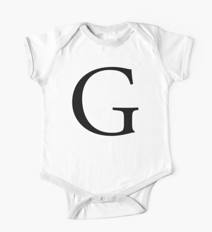 G, Alphabet, Letter, Gee, Golf, George, A to Z, 7th Letter of Alphabet, Initial, Name, Letters, Tag, Nick Name One Piece - Short Sleeve