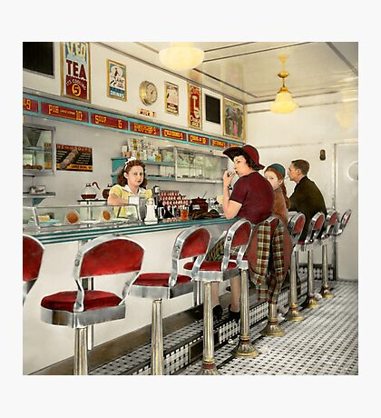 Cafe - The local hangout 1941 Photographic Print