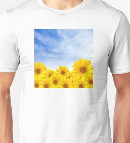 Flowers over Sky Unisex T-Shirt
