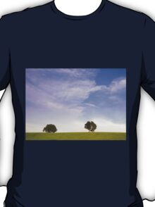 Green field blue sky and trees T-Shirt